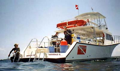 Dive Instruction Boat