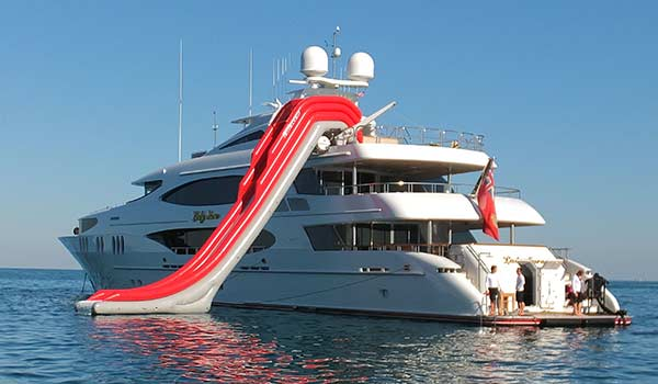Yacht Water Slides Fort Lauderdale Brownies Yacht Toys